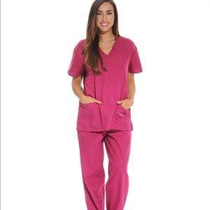 0860 Women's Scrub Sets Six Pocket Medical Scrubs
